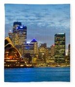 Opera House And Buildings Lit Fleece Blanket