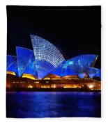 Opera House Sydney Australia Fleece Blanket