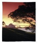 Opera Tree Fleece Blanket