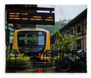 Oporto Train Station Fleece Blanket