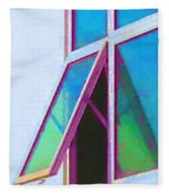 Window Of Opportunity  Fleece Blanket