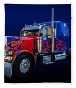 Optimus Prime Blue Fleece Blanket