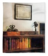 Optometrist - Eye Doctor's Office With Diploma Fleece Blanket