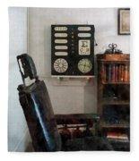 Optometrist - Eye Doctor's Office With Eye Chart Fleece Blanket