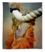 Orang Utan Fleece Blanket