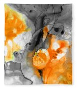 Orange Abstract Art - Iced Tangerine - By Sharon Cummings Fleece Blanket