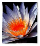 Orange And Blue Lily...   # Fleece Blanket