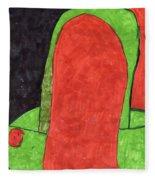 Orange And Green Fleece Blanket