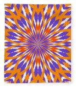 Orange And Purple Kaleidoscope Fleece Blanket