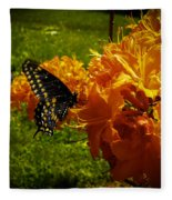 Orange Azalea Fleece Blanket