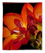 Orange Beauty Fleece Blanket