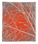 Orange Branches Fleece Blanket