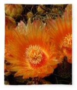 Orange Cactus Fleece Blanket
