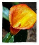 Orange Calla Lilly Flower In The Garden Fleece Blanket