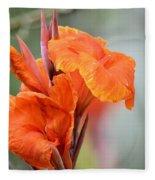 Orange Cana Fleece Blanket