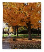 Orange Canopy - Davidson College Fleece Blanket