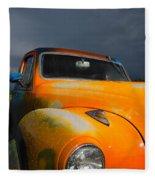 Orange Car Fleece Blanket