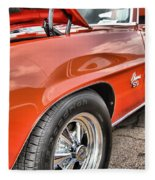 Orange Chevelle Ss 396 Fleece Blanket