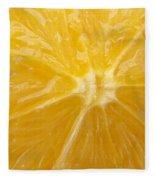 Orange Closeup Fleece Blanket