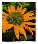 Orange Cone Flower Fleece Blanket