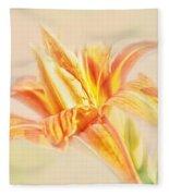 Orange Cream Fleece Blanket