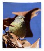 Orange-crowned Warbler - Feather Lite Fleece Blanket
