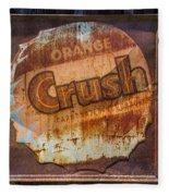 Orange Crush Sign Fleece Blanket