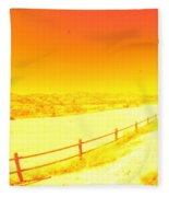 Orange Fleece Blanket