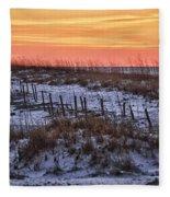 Orange Dawn Fleece Blanket