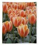 Orange Dutch Tulips Fleece Blanket