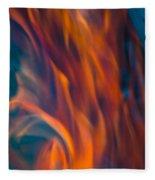 Orange Fire Fleece Blanket