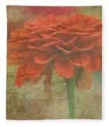 Orange Floral Fantasy Fleece Blanket