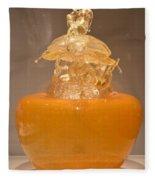 Orange Glass Sculpture Fleece Blanket