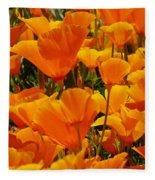 Orange Glimmer Fleece Blanket