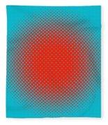 Optical Illusion - Orange On Aqua Fleece Blanket