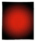 Optical Illusion - Orange On Black Fleece Blanket