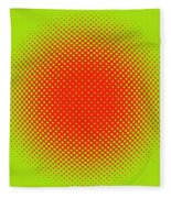 Optical Illusion - Orange On Lime Fleece Blanket