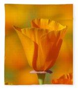 Orange Harmony Fleece Blanket