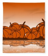 Orange Harvest Fleece Blanket
