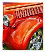 Orange Hood And Fender-hdr Fleece Blanket