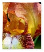 Orange Iris Fleece Blanket