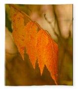 Orange Leaves Of Fall Fleece Blanket