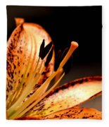 Orange Lily Fleece Blanket