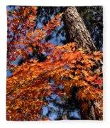 Orange Maple Fleece Blanket