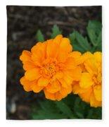 Orange Marigolds   # Fleece Blanket