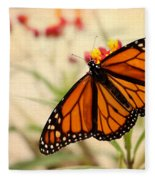 Orange Mariposa Fleece Blanket
