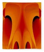 Orange Mask Fleece Blanket by Rafael Salazar