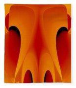 Orange Mask Fleece Blanket