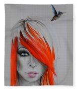 Orange Nectar Fleece Blanket