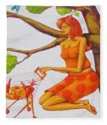 Orange Olga Fleece Blanket